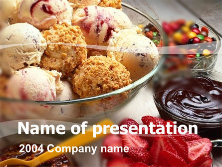Pastry PowerPoint Template, 00056, Food & Beverage — PoweredTemplate.com