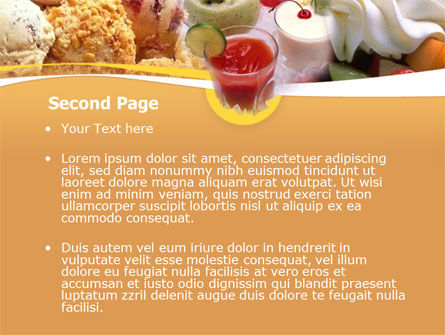 Pastry PowerPoint Template, Slide 2, 00056, Food & Beverage — PoweredTemplate.com