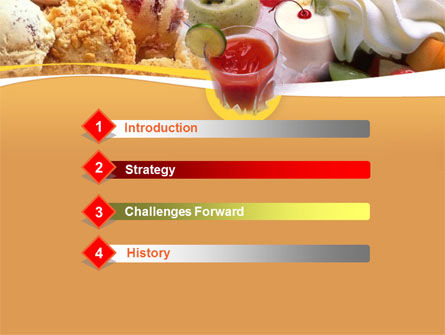Pastry PowerPoint Template, Slide 3, 00056, Food & Beverage — PoweredTemplate.com