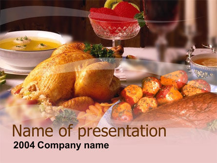 Food & Beverage: Abendessen PowerPoint Vorlage #00058