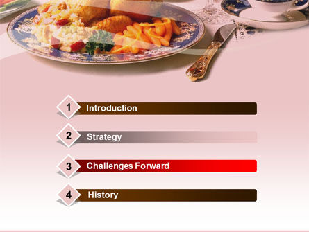 Supper PowerPoint Template, Slide 3, 00058, Food & Beverage — PoweredTemplate.com