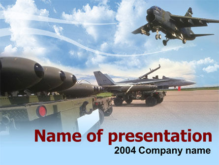 Aircraft Free PowerPoint Template, 00059, Military — PoweredTemplate.com