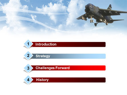 Aircraft Free PowerPoint Template, Slide 3, 00059, Military — PoweredTemplate.com