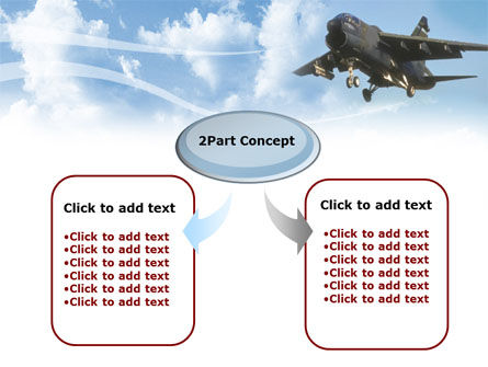 Aircraft Free PowerPoint Template, Slide 4, 00059, Military — PoweredTemplate.com