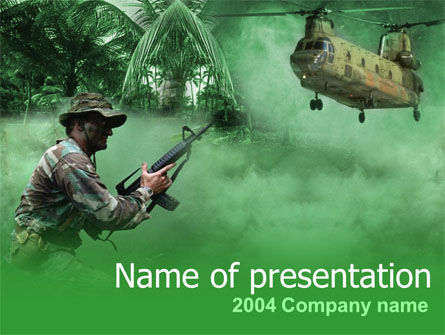 Military Campaign PowerPoint Template, 00060, Military — PoweredTemplate.com