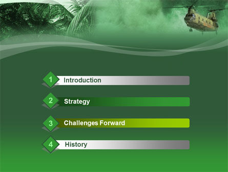 Military Campaign PowerPoint Template, Slide 3, 00060, Military — PoweredTemplate.com