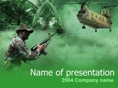 Military: Militaire Campagne PowerPoint Template #00060