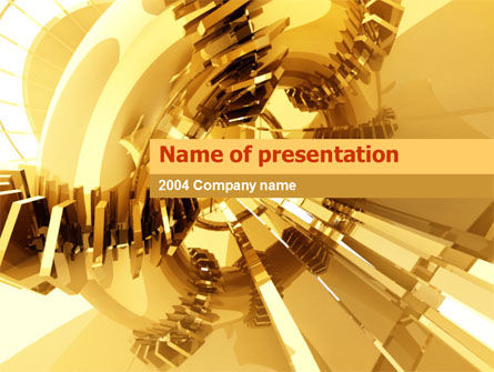 3D Yellow PowerPoint Template, 00063, Abstract/Textures — PoweredTemplate.com