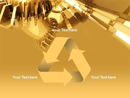 3D Yellow PowerPoint Template Slide 10