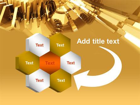 3D Yellow PowerPoint Template Slide 11