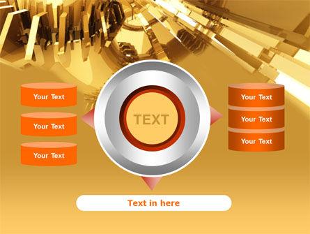 3D Yellow PowerPoint Template Slide 12