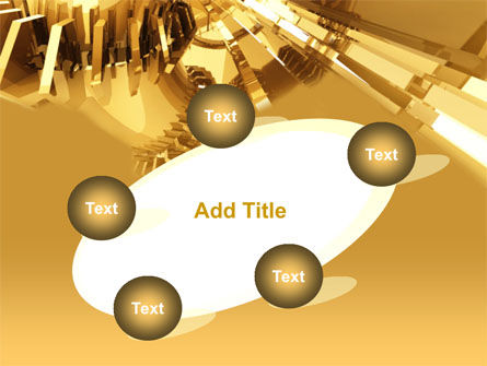 3D Yellow PowerPoint Template Slide 14