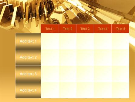 3D Yellow PowerPoint Template Slide 15