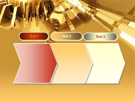 3D Yellow PowerPoint Template Slide 16