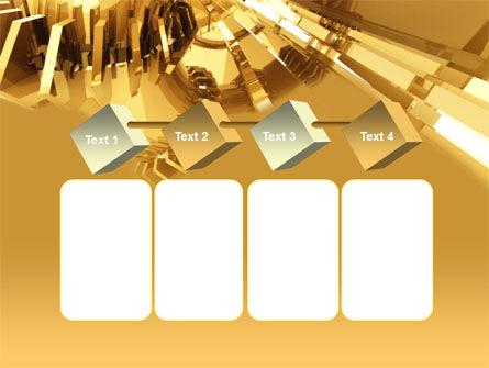 3D Yellow PowerPoint Template Slide 18