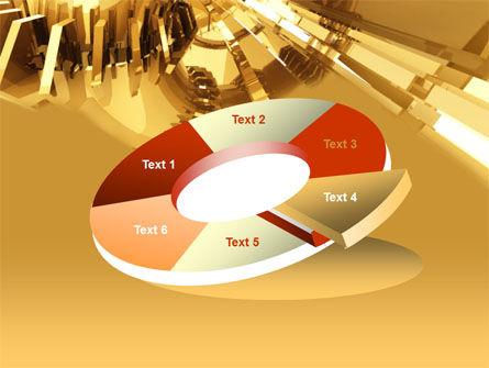3D Yellow PowerPoint Template Slide 19