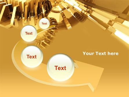 3D Yellow PowerPoint Template Slide 6