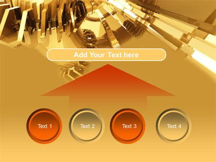 3D Yellow PowerPoint Template Slide 8
