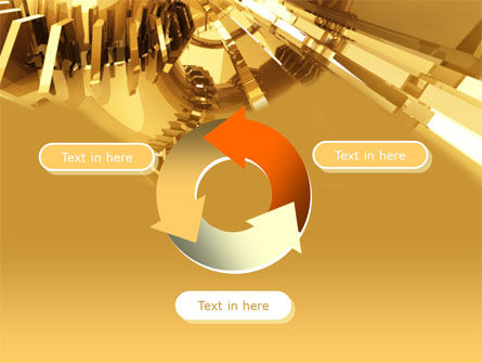 3D Yellow PowerPoint Template Slide 9