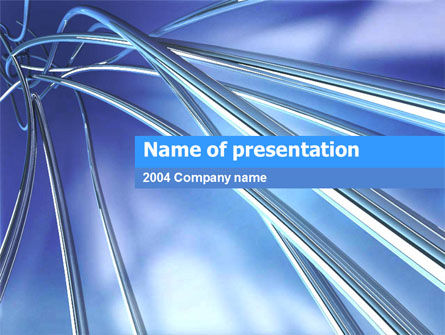 3D Pipes PowerPoint Template