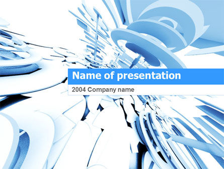 Abstract/Textures: Fragmented PowerPoint Template #00066