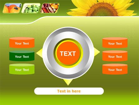 Sunflower PowerPoint Template Slide 12