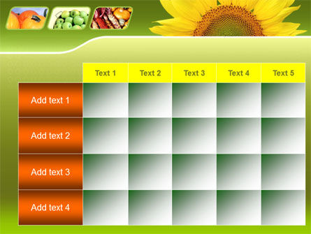 Sunflower PowerPoint Template Slide 15