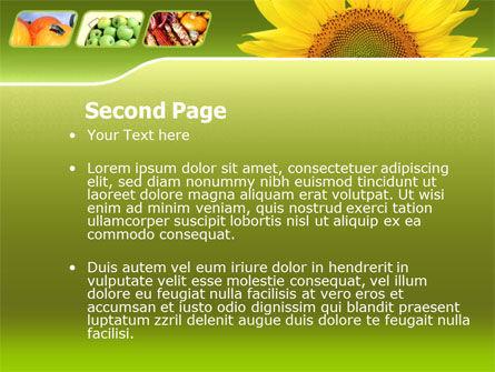 Sunflower PowerPoint Template, Slide 2, 00070, Agriculture — PoweredTemplate.com