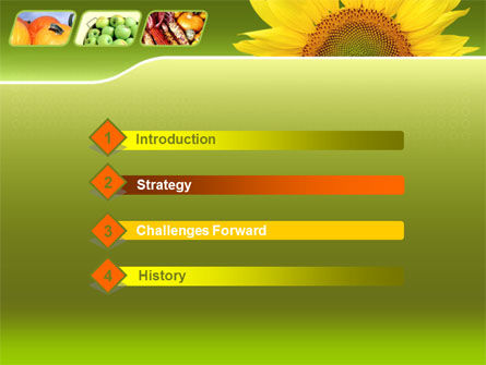 Sunflower PowerPoint Template Slide 3