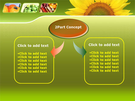 Sunflower PowerPoint Template Slide 4