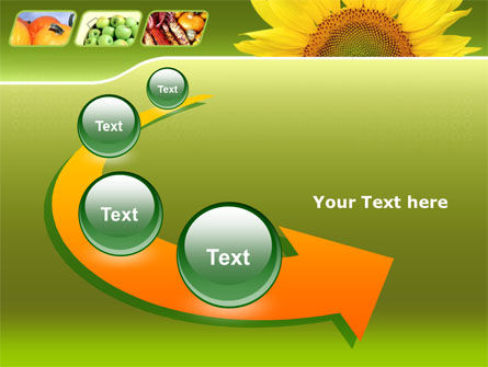 Sunflower PowerPoint Template Slide 6
