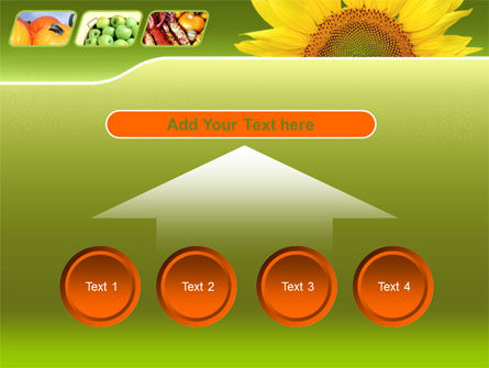 Sunflower PowerPoint Template Slide 8