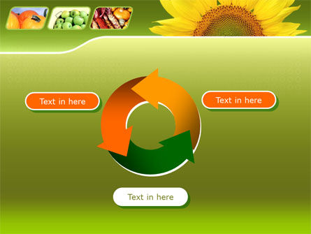 Sunflower PowerPoint Template Slide 9