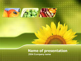 Agriculture: Sunflower PowerPoint Template #00070