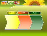 Sunflower PowerPoint Template#16