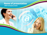 Telecommunication: Mobile Communication PowerPoint Template #00075