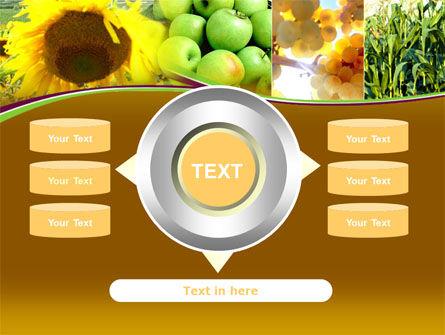 Sunflower Apple Grape And Corn PowerPoint Template Slide 12