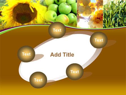 Sunflower Apple Grape And Corn PowerPoint Template Slide 14