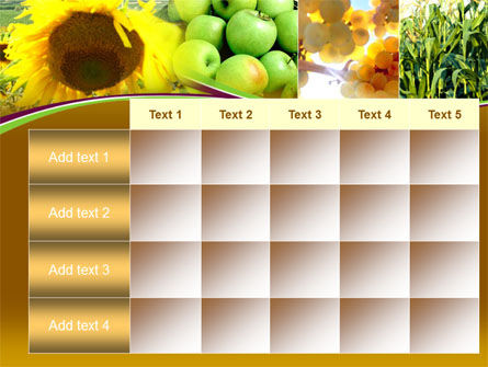 Sunflower Apple Grape And Corn PowerPoint Template Slide 15