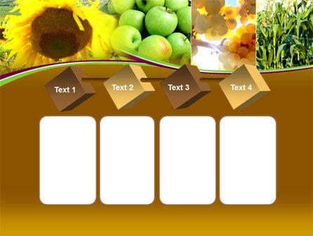 Sunflower Apple Grape And Corn PowerPoint Template Slide 18