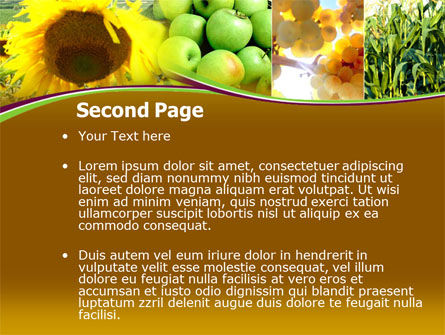 Sunflower Apple Grape And Corn PowerPoint Template, Slide 2, 00076, Agriculture — PoweredTemplate.com