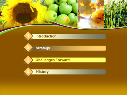 Sunflower Apple Grape And Corn PowerPoint Template, Slide 3, 00076, Agriculture — PoweredTemplate.com