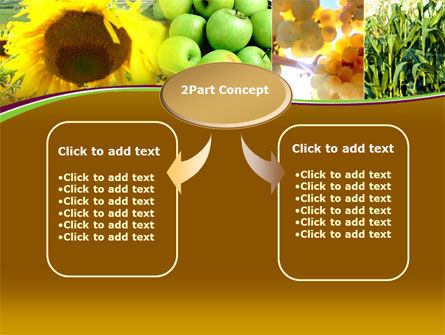 Sunflower Apple Grape And Corn PowerPoint Template, Slide 4, 00076, Agriculture — PoweredTemplate.com