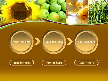 Sunflower Apple Grape And Corn PowerPoint Template Slide 5