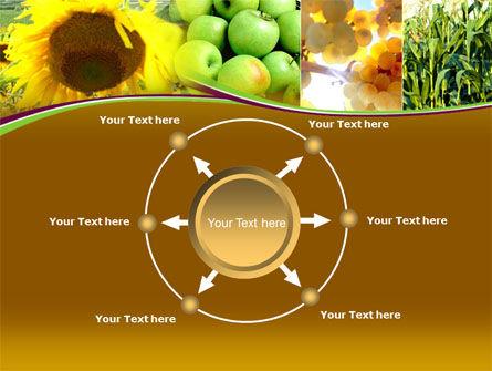 Sunflower Apple Grape And Corn PowerPoint Template Slide 7