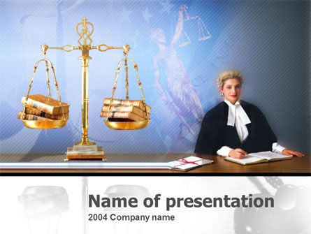 Legal: Public Justice PowerPoint Template #00077