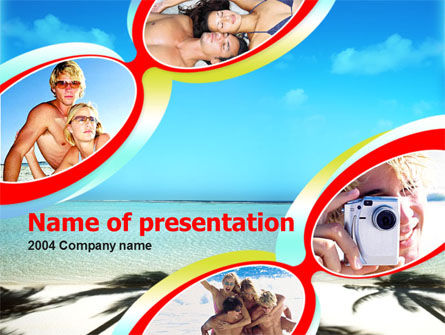 Holiday/Special Occasion: Plantilla de PowerPoint gratis - playa #00078