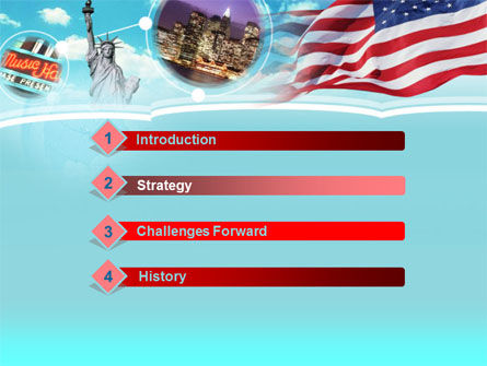 Statue of Liberty PowerPoint Template, Slide 3, 00080, America — PoweredTemplate.com