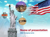 America: Statue of Liberty PowerPoint Template #00080