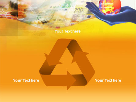 Yellow Colored Euro Currency PowerPoint Template Slide 10